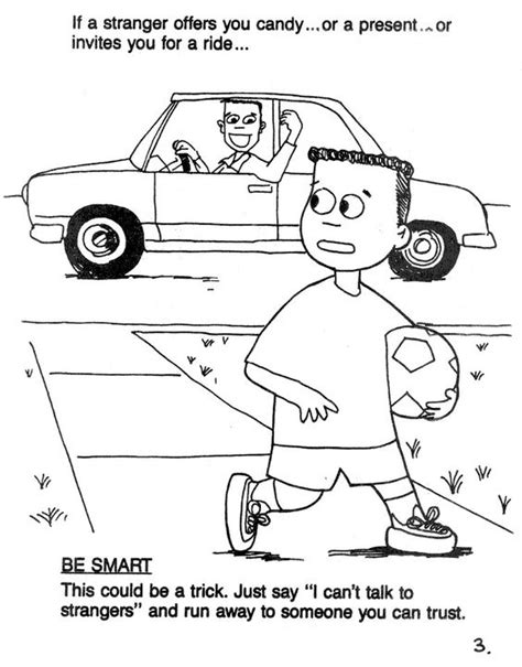 stranger safety for preschoolers safety coloring page printable coloring pages 504