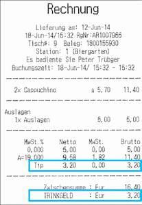 Rechnung Buchen : trinkgeld buchen ~ Themetempest.com Abrechnung