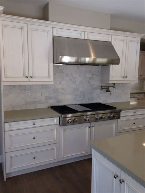 tile designs for kitchens kitchen with antique white glazed cabinets cinder 6133