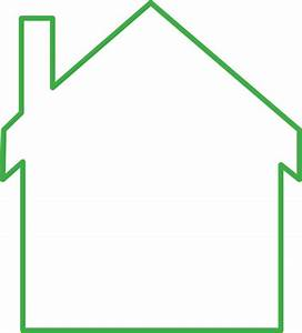Green House Outline Clip Art at Clker.com - vector clip ...