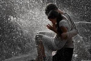couple, cute, love, rain - image #142806 on Favim.com