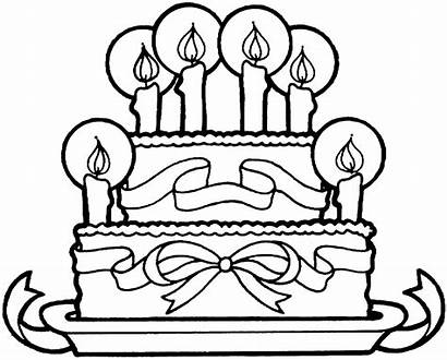 Cake Coloring Pages Grandma