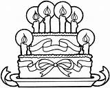 Coloring Birthday Cake Happy Cakes Popular sketch template