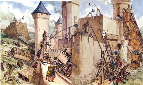 sieges de siege warfare middle ages weapons and warfare