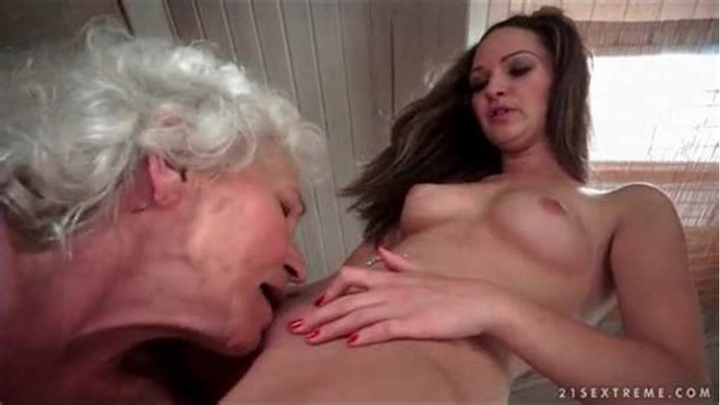 #Grey #Haired #Granny #Eats #Out #Shaved #Young #Pussy