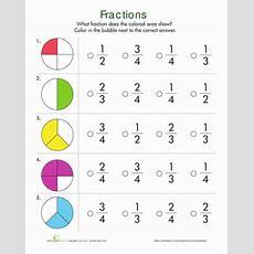 Fractions Quiz  Worksheet Educationcom