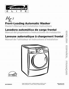 Kenmore Washer 110 User Guide