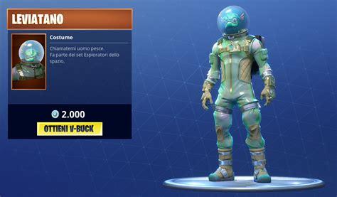 Fortnite u00e8 ora disponibile allu0026#39;acquisto la nuova (e fuori di testa) skin Leviatano