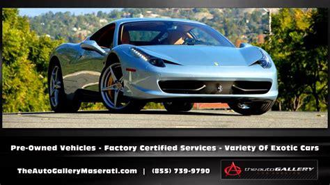 Maserati Auto Gallery by Maserati Dealer Calabasas Ca The Auto Gallery