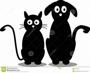 Cat And Dog Silhouette Royalty Free Stock Image - Image ...