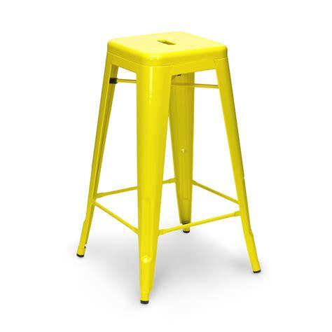 stool color yellow yellow tolix stool 65cm 75cm
