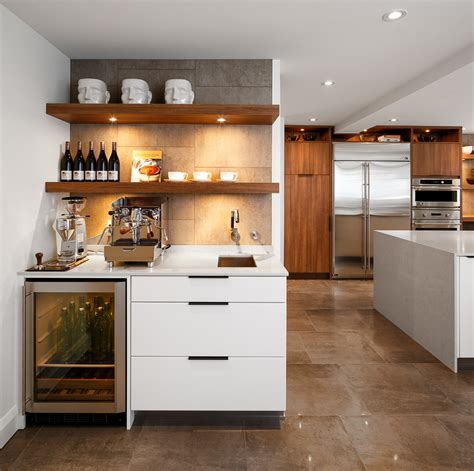 Empty kitchen cabinets, accessible countertops, or mobile bar carts) and fill it with everything you. Innovative bodum coffee grinderin Kitchen Contemporary with Prepossessing Wine Bar Ideas next to ...