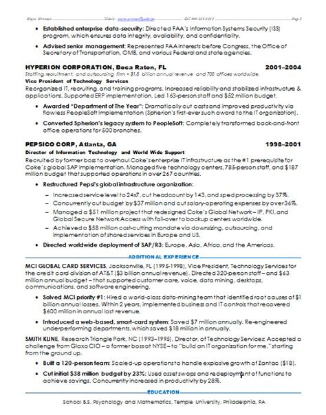 It Security Resume by Resume Sles It Security