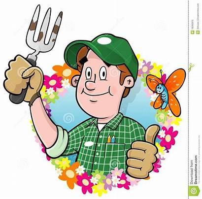 Gardener Cartoon Clipart Gardening Flowers Vector Clipartmag
