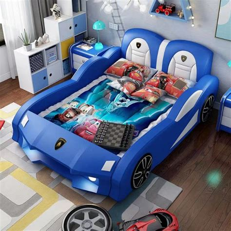 childrens bed boy small bed car bed  guardrail