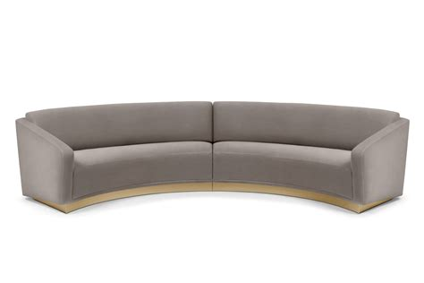 round loveseat with ottoman round sofa ferdinand by munna