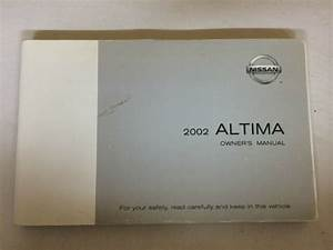 2002 Nissan Altima Owner U0026 39 S Owners Manual Guide Books