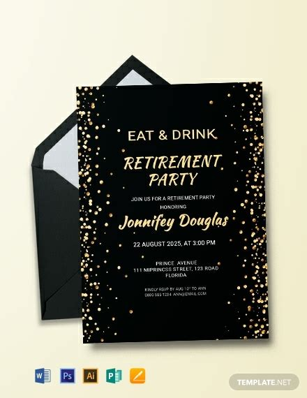 surprise retirement party invitation template word