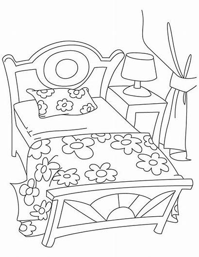 Coloring Bed Pages Bedroom Sheet Bunk Template