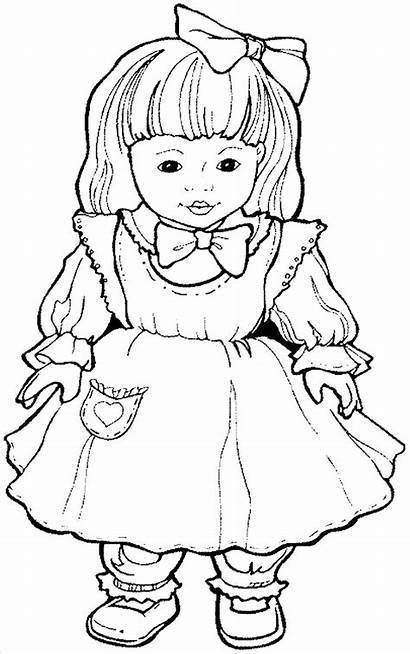 Coloring Doll Dolls Pages Shoppies Templates Return
