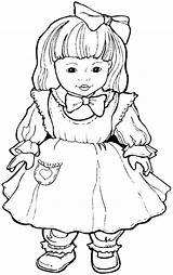 Coloring Doll Dolls Coloriage Printable Jouets Dall Shoppies Printables Dessin Drawings Et Templates Return sketch template