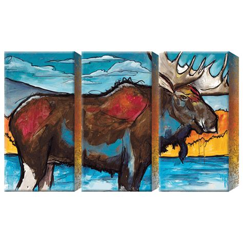 northern moose box wall art set