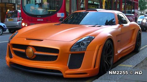 matte orange matte orange fab design mercedes sls amg lovely sound