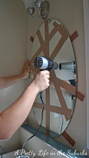 How To Remove A Bathroom Mirror Glued To The Wall by Bathroom Wall Mirrors Foter