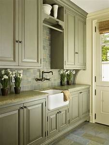 best 25 green country kitchen ideas on pinterest With kitchen colors with white cabinets with custom name wall art