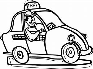 One Taxi Driver Car Coloring Page Wecoloringpage