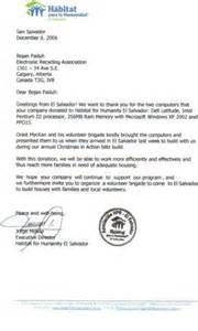 non profit banquet donation letter