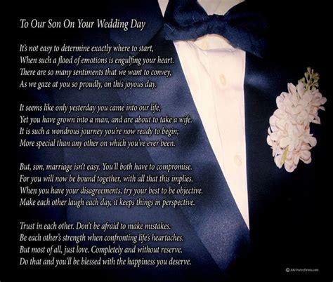 son   wedding day poem print