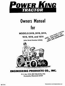 Power King 1614  1616  1618  2414  2416  And 2418 Tractor