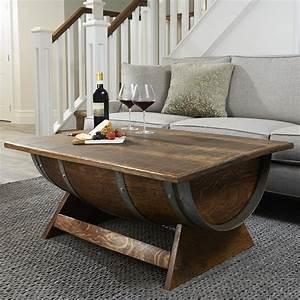 lift top reclaimed wine barrel coffee table the green head With reclaimed wood lift top coffee table