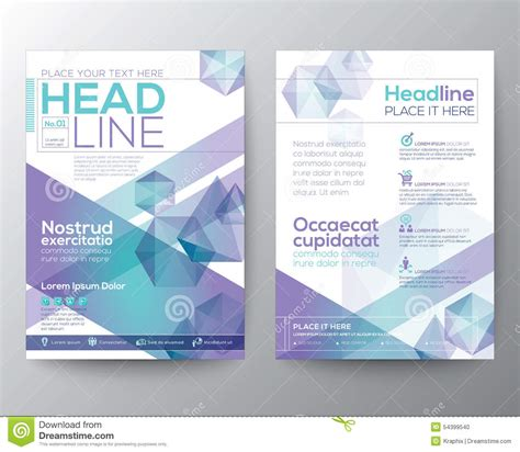 Design Folding Brochures Print Template Flyer Stock Vector Abstract Polygon Design Vector Template Layout For