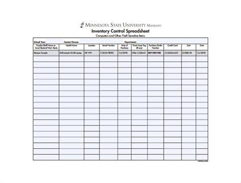13 Sample Inventory Spreadsheet Templates Free Sample