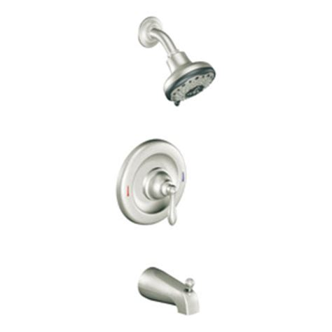 shop moen caldwell spot resist stainless 1 handle bathtub