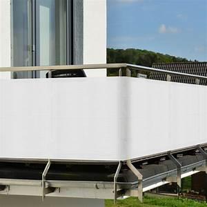 balkon sichtschutz balkonschutz 3m 5m zaun windschutz With garten planen mit balkon sichtschutz weiß meterware