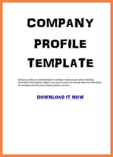 company profile template for small business 3 sle company profile template pdf company letterhead