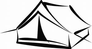 Tent Clipart Black And White - Cliparts.co