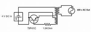 Homemade Diy Howto Make  Simple 4 Volt Dc To 400 Volt Ac