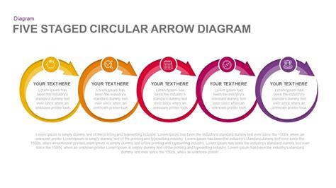 5 steps circular arrow diagram template for powerpoint keynote