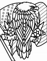 Patriotic Eagle Downloads Coloring Mandala sketch template