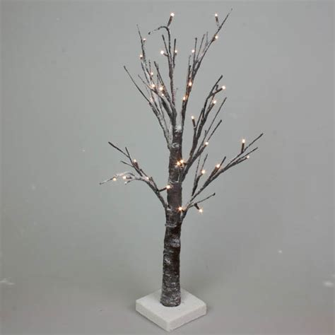 battery operated tree lights battery operated snowy twig tree with warm white led 39 s
