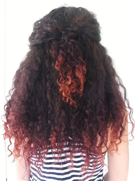 Best 25 Dyed Curly Hair Ideas On Pinterest Long Curly