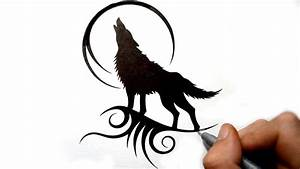 Tribal Wolf Drawing - Drawing Sketch Gallery