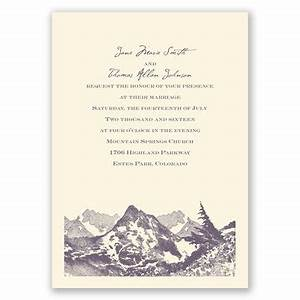 17 best ideas about mountain wedding invitations on for Wedding invitations for less than 1