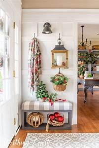 Warm, And, Welcoming, Christmas, Entryway, With, Images