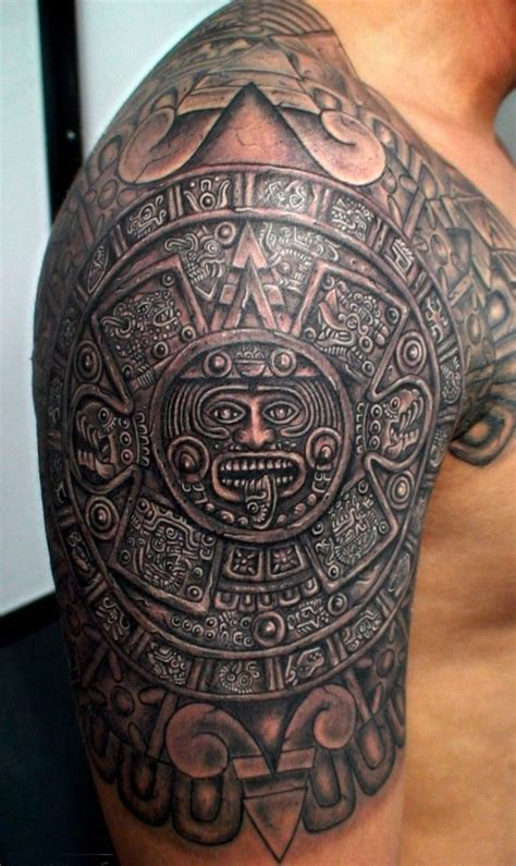 aztec tattoo  arm