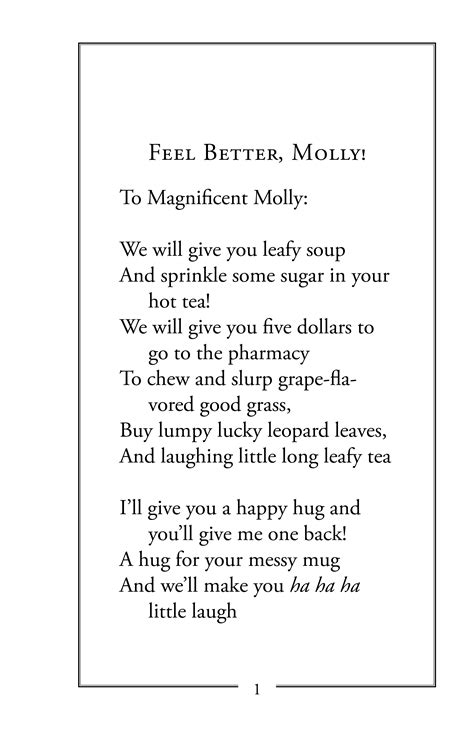 "Field Trip Book Of The Week ""feel Better, Molly! & Other"